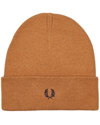 Fred Perry Beanie - Brown