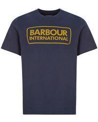 Barbour International T-shirt Logo - Blue