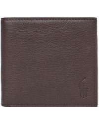 Ralph Lauren Billfold Wallet – Pebbled Brown