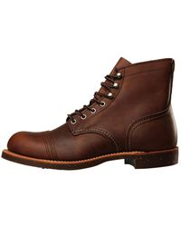 Red Wing 8085 Iron Ranger Burnished-leather Boots - Brown