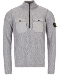 Stone Island Knitted Pullover- Gray