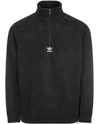 adidas Teddy Fleece Half-zip - Black