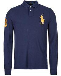 Ralph Lauren Long Sleeve Polo Shirt - Blue