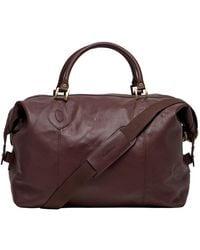 Barbour Bag - Brown Leather Travel Explorer