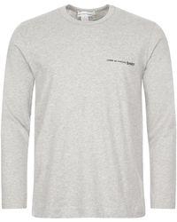 Comme des Garçons Long Sleeve T-shirt - Grey