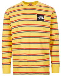 The North Face Stripe Long Sleeve Tee - Yellow