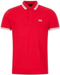 BOSS by Hugo Boss Athleisure Paddy Polo - Red