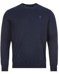 Polo Ralph Lauren Crewneck Cotton Sweater - Blue