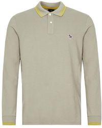 Paul Smith Long Sleeve Polo Shirt - Grey