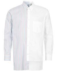 Lanvin Long Sleeve Shirt Patchwork - White