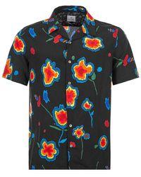 Paul Smith Short Sleeve Shirt Patterned - Black