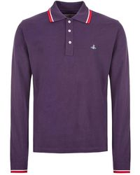 Vivienne Westwood Long Sleeve Polo Shirt – Purple