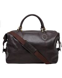 Barbour Bag - Chocolate Leather Travel Explorer - Brown