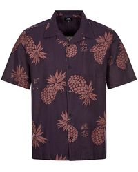 Edwin Short Sleeve Shirt Multivitamin - Purple