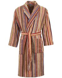 Paul Smith Signature Stripe Towelling Dressing Gown - Multicolor