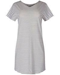 SKINY Sleepshirt mit Streifenmuster - Mehrfarbig