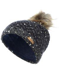Barts Mütze mit Lurex-Garn - Blau