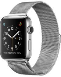 Apple - Watch Series 2, 38mm Stainless Steel Case With Silver Milanese Loop - Lyst