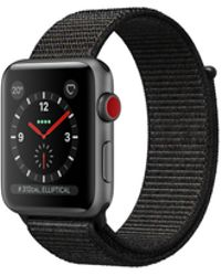 Apple - Watch Series 3 Gps + Cellular 38mm Aluminium Case Space Grey With Black Sport Loop - Lyst
