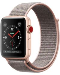 Apple - Watch Series 3 Gps + Cellular, 38mm Gold Aluminum Case With Pink Sand Sport Loop - Lyst
