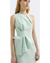 AQ/AQ - Quinto Peplum Mini Dress Chalky Mint - Lyst