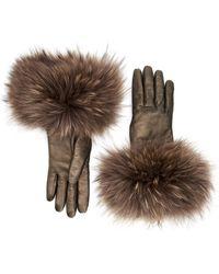 Aquatalia Fur Cuff Glove - Brown