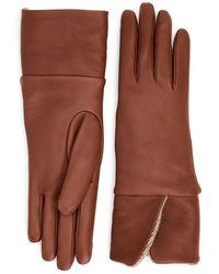 Aquatalia Foldover Glove - Brown