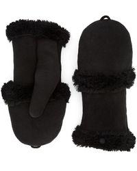Aquatalia Suede Mitten Glove - Black