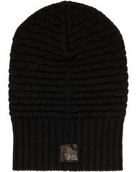 Aquatalia Chunky Knit Hat - Black