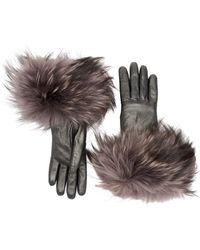 Aquatalia Fur Cuff Glove - Grey
