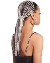 Area - Crystal Fringe Headband - Lyst