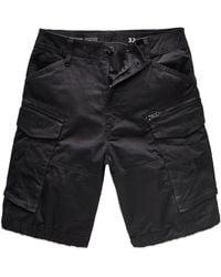 G-Star RAW Rovic Zip Relaxed Cargo Shorts - Black