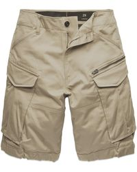 G-Star RAW Rovic Zip Relaxed Cargo Shorts - Dune - Brown