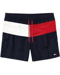 Tommy Hilfiger Colour-blocked Swim Shorts - Blue