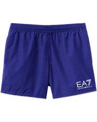 EA7 Logo Swim Shorts - Blue