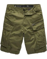G-Star RAW Rovic Zip Relaxed Cargo Shorts - Sage - Green