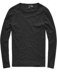 G-Star RAW G-star Base Round Neck Long Sleeve T-shirt - Black