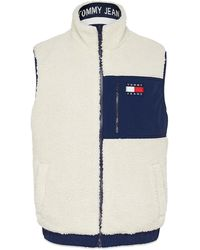 Tommy Hilfiger Tommy Jeans Reversible Retro Gilet White Red - Blue