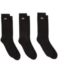 Lacoste Sport Socks 3 Pack Ra2099 - Black