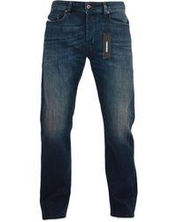 DIESEL Waykee 814 W Straight Jeans Dark Blue