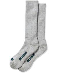 Filson Midweight Traditional Crew Socks - Grey