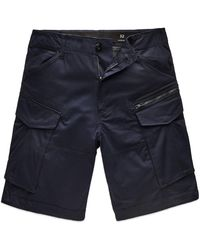 G-Star RAW Rovic Zip Relaxed Cargo Shorts - Mazarine - Blue