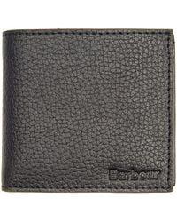 Barbour Grain Leather Billfold Wallet - Multicolor
