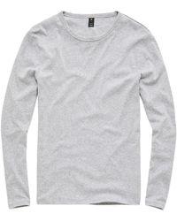 G-Star RAW G-star Base Round Neck Long Sleeve T-shirt - Grey
