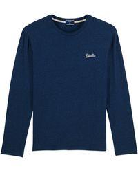 Superdry Orange Label Vintage Embroidery Long Sleeve T-shirt - Blue