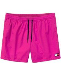 Tommy Hilfiger Drawstring Swim Shorts - Pink