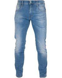 Herren Hose REPLAY Slim Fit Anbass Jeans Super Light Blue M914.000.E141476-011