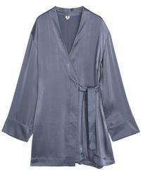 ARKET Satin Robe - Blue
