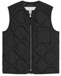 ARKET Quilted Liner Vest - Black