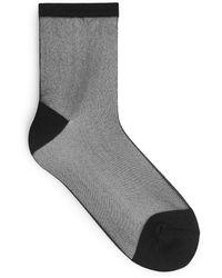 ARKET Sheer Glittery Socks - Black